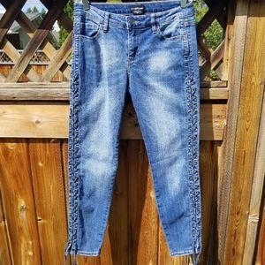 Bebe Skinny Y2K Lace Up Jeans